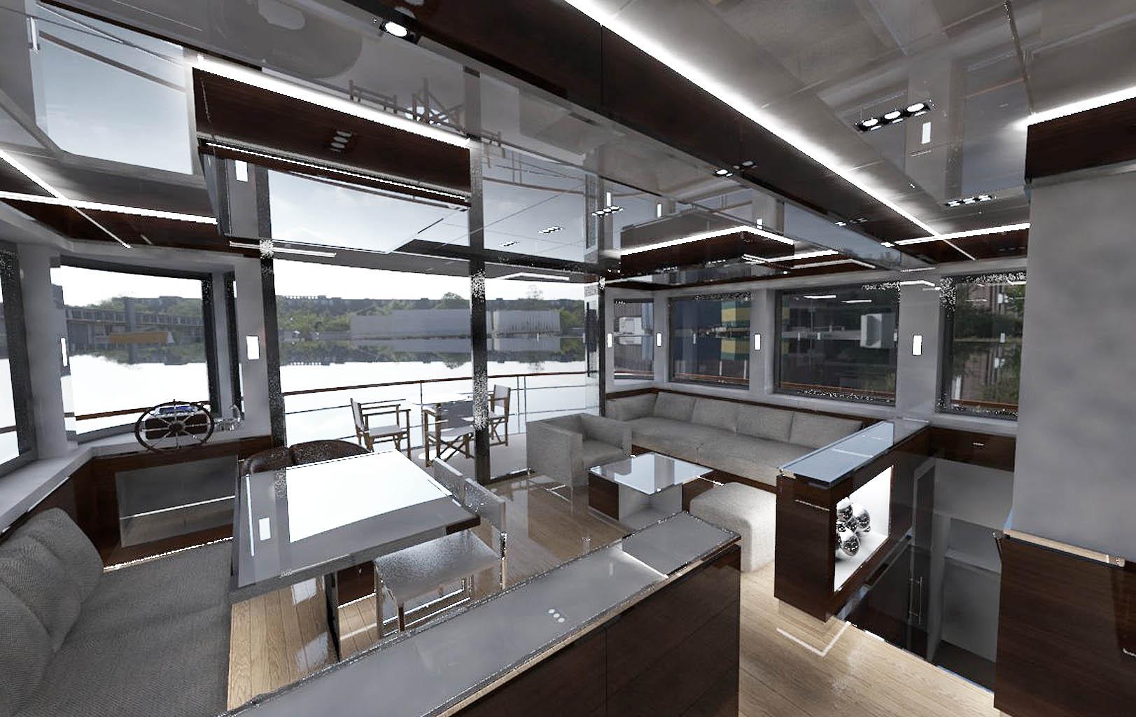 cool houseboat interior images best idea home design. Black Bedroom Furniture Sets. Home Design Ideas